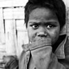 A boy who lives in a Rohingya refugee camp in Southern Bangladesh. He has no citizenship and no rights.