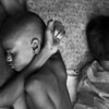 Boys sleeping in a slum in Dhaka city