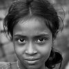 A girl who lives on a brick kiln site outside Dhaka.