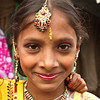 A girl on Eid-ul-Azha day in a slum in Dhaka city.