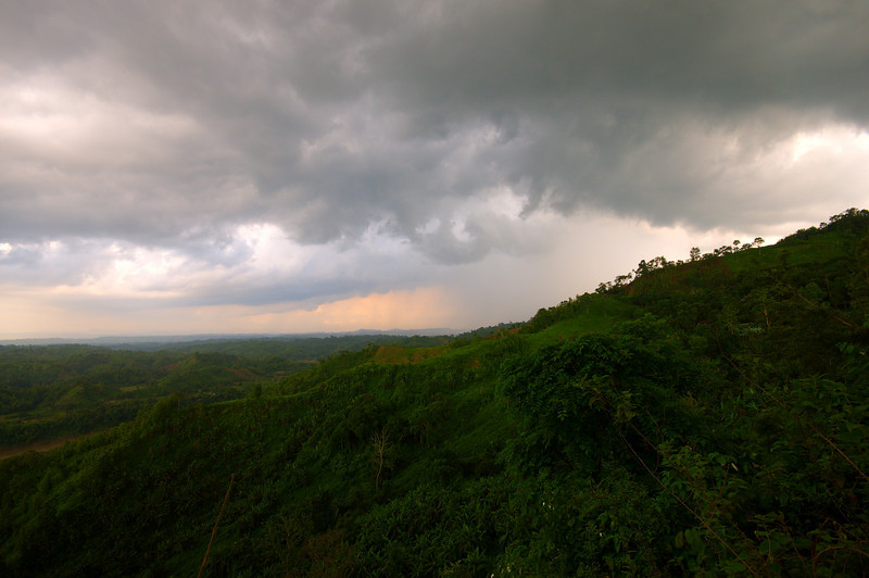 Storm clouds over the Bandarban hills