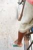 Our barefoot rickshaw driver