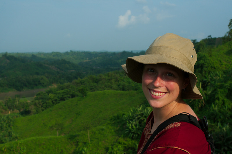 Emilie on the first day in the Chittagong Hill Tracts