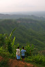 Local men look out at the view from Tiger Hill