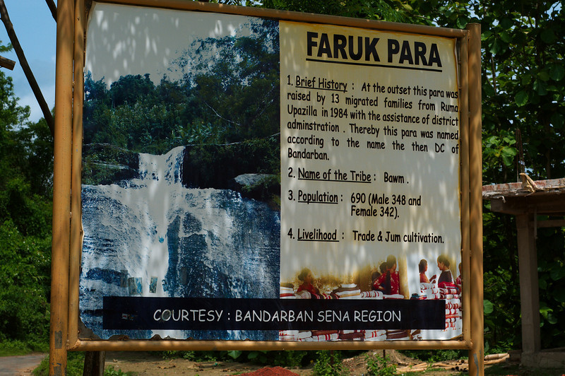 Faruk Para is home to the Bawm tribe and the local tourist attraction Shilo Propat waterfall