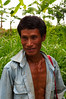 According to our guide, this is Noou Para's chief who we ran into on the road as he headed back to the fields