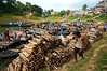 Lumber arriving to Rangamati