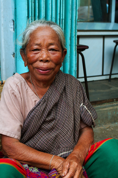 An older local woman