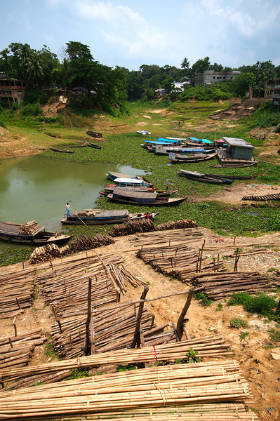 One of two main ports in Rangamati
