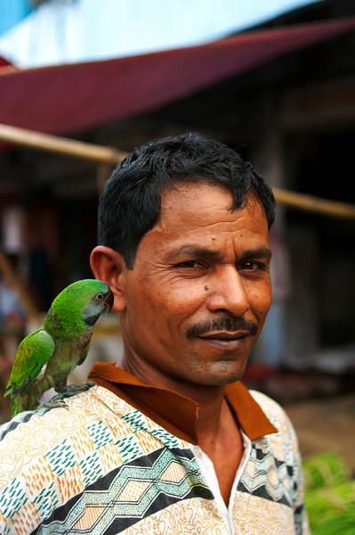 Local man and his pet bird