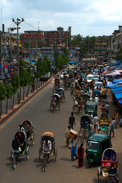 Streets seem visibly less crowded than Dhaka