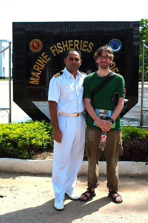 Yann and a teacher from the Marine Fisheries Academy