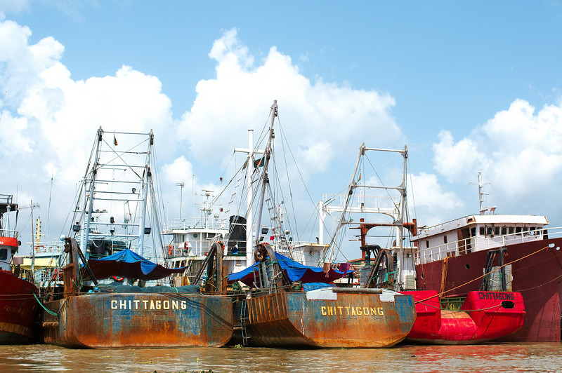 Boats docked in Chittagong