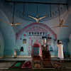 Inside an old village mosque outside Cox's Bazaar.