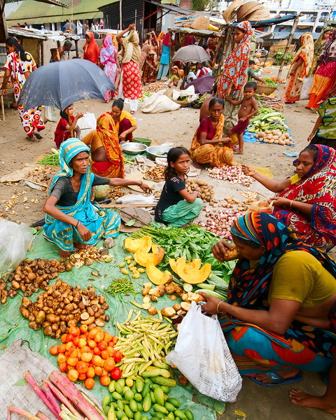 The colourful produce market