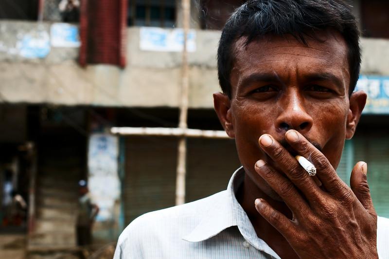 Smoking a fairly expensive addiction in Bangladesh.