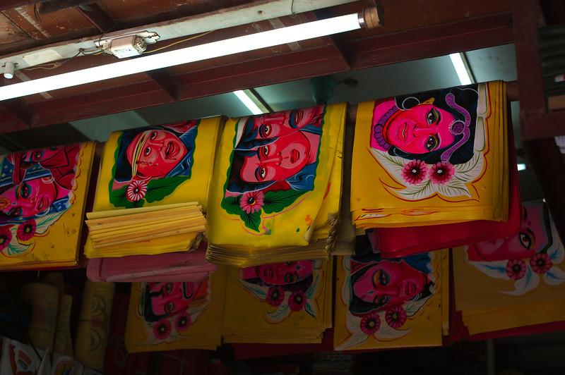 Rickshaw art hanging in a Bicycle St. shop