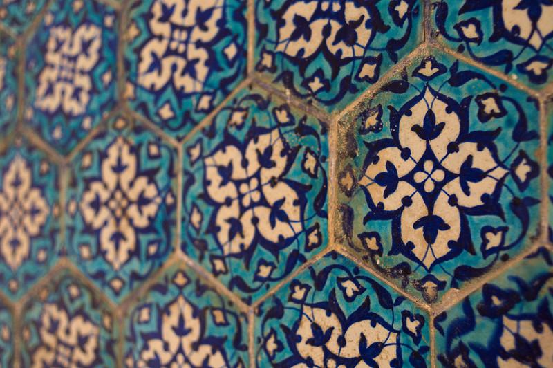 Tiles inside a Lalbagh Fort building
