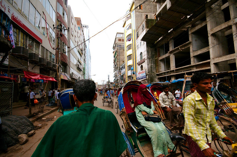 Rickshawing through the streets of Old Dhaka
