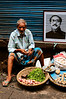 Selling produce alongside Bangladesh's founding father Sheik Rahman