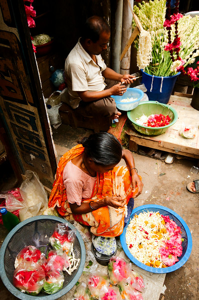 Flower vendors on Hindu St.