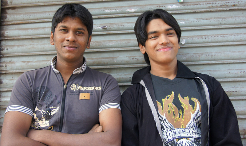 "A couple of Bangladeshi men pose for a portrait on the streets of Old Dhaka - Dhaka, Bangladesh.  To view my gallery from Dhaka, Bangladesh click on the photo. <a href=""http://nomadicsamuel.com"">http://nomadicsamuel.com</a>"