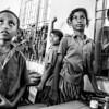Girls in a village school.