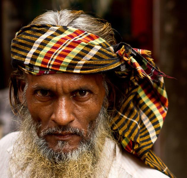 A rickshaw driver in Dhaka.