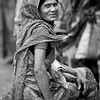 A female day labourer who waits to be picked up from the street in Khulna.