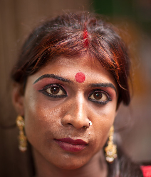 A transgender that I met on the street in Old Dhaka.