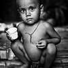 A boy in a slum in Banani