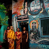 Hindu women in a court yard in Old Dhaka.