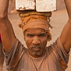 A worker at a brick kiln site in Savar outside Dhaka city.
