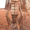 A worker on a brick kiln site.
