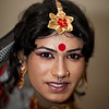 A transgender during a performance in Dhaka.