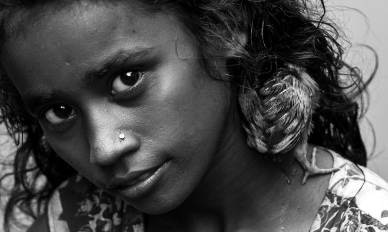 My favourite model of the day - a girl in a slum in Banani, Dhaka.