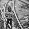 A boy in a slum in Dhaka.