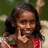 A girl in a slum in Banani.