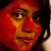 A woman who celebrates Durga Puja.