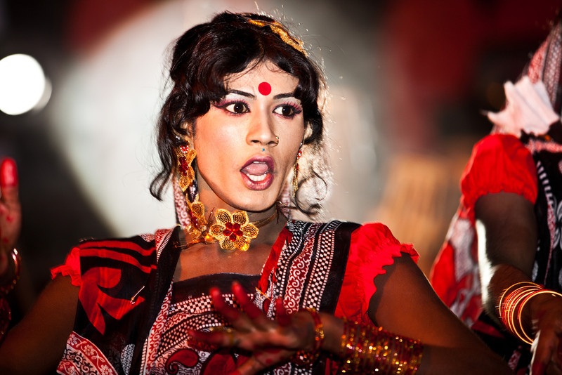 A transgender performing on stage.