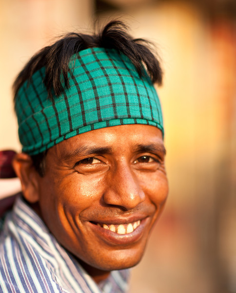 A man on the street in Dhaka