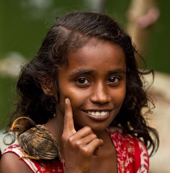 My model of the day - a girl living in a slum in Banani, Dhaka.