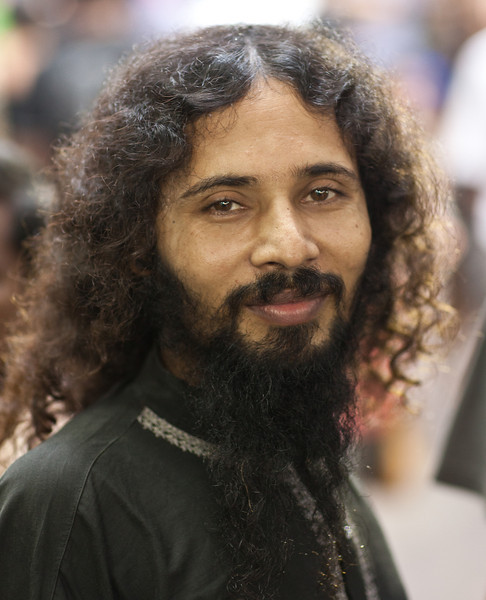 A man I met during Durga Puja in Old Dhaka.