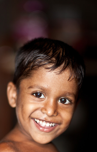 A boy living in a slum in Dhaka