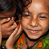 Two girls in a slum