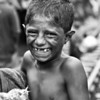 A boy in a slum in Dhaka city.
