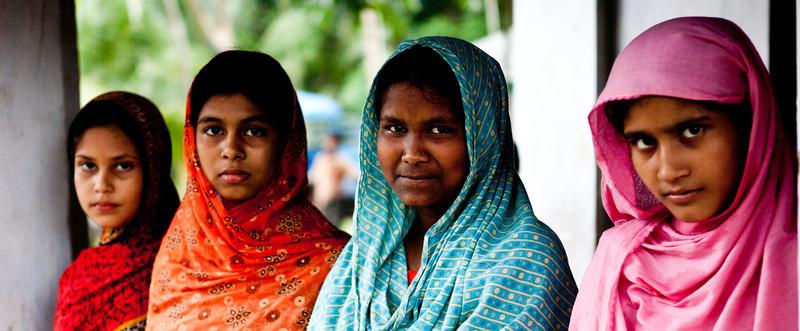 Girls in a village school in Bagerhat.