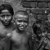 Children in a slum in Dhaka city