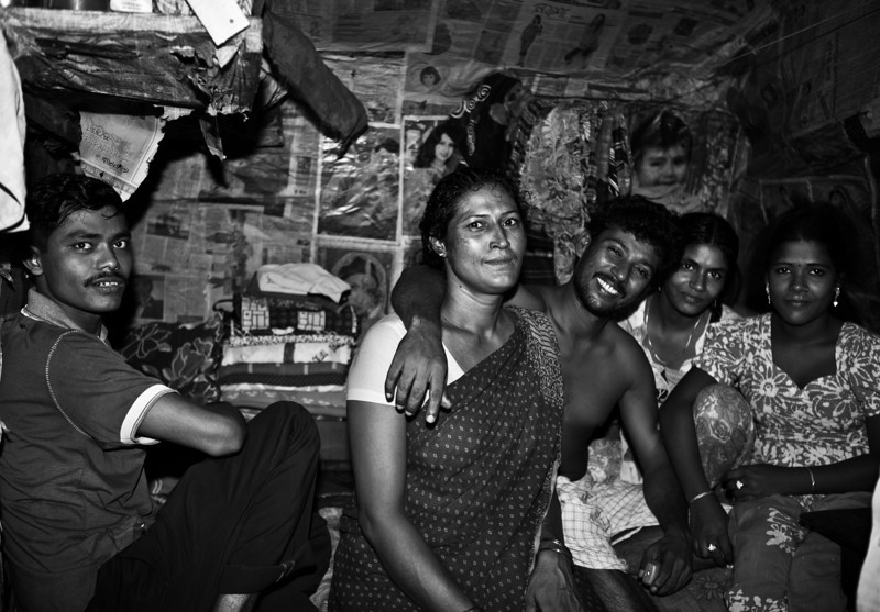 Women and men in a brothel in Jessore