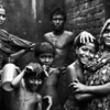 A family in monsoon Dhaka
